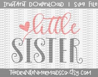 Little Sister SVG - Little Sister - SVG Clipart -  - Svg - Dxf - Png - Vector - Commercial Use Svg
