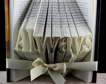 Birthday Gift For Her, Folded Book Art Sculpture Girlfriend Gift, Origami Book Gift For Her, Custom Folded Book Birthday Gift, Birthday Gift