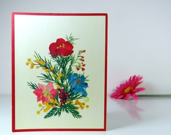 Vintage blank greeting card
