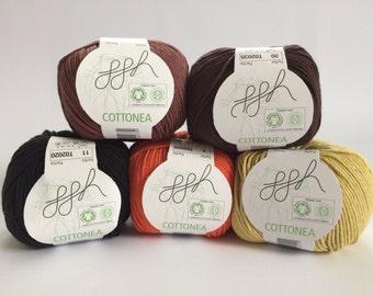 Organic cotton crochet yarn Knitting yarn 50 g Waldorfpuppe hair yourself make vegan