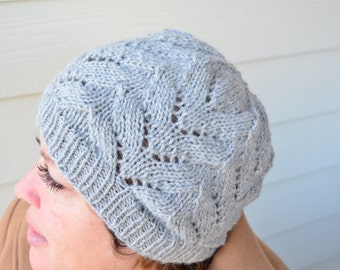 Knitted Hat - Lacy Women's M