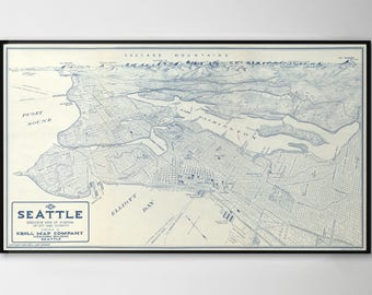 Seattle Map Print, Seattle Poster, Seattle Gifts, Seattle Wall Art, Seattle Map, Seattle Photography, Seattle, 205