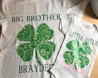 Custom matching sibling shirts/onesie