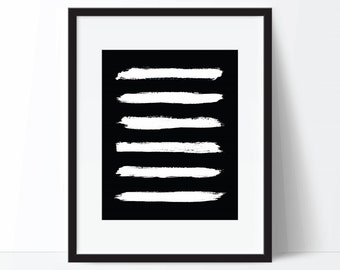 Abstract Print, Black and White Art, Modern Art, Abstract Art, Minimalist Art, Abstract Printable, Brushstroke Print, Abstract Poster