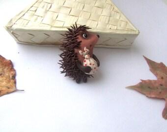 Брошь ежик в тумане,cute brooch,Hedgehog in the Fog,hedgehog gifts,cute animals, hedgehog animal, cute gift