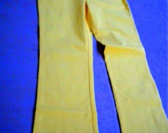 Yellow pants shock yellow ladies teen girls Young Fashion XXS / 32 / 152 Victor measurements vintage