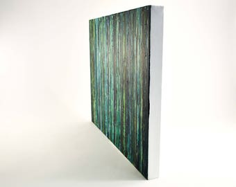 Green Painting - Forest Painting - Green Abstract Nature Painting - Green Nature Art - Gift for Nature Lover - Green Home Decor - Forest Art