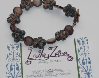 Rustic Flower Bracelet (Medium)