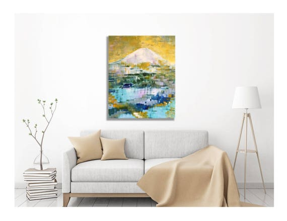 Art, Canvas Print, Giclee Painting -- Mountain, Mt. Rainier, Mt. Baker, Alpine Lakes, Hiking Paradise, Outdoors, Multiple Sizes Available