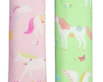 Seat belt covers shoulder pads shoulder pads for child seat car seat belt bicycle seat Unicorn pink green NEW