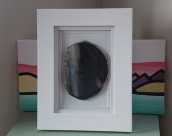 framed agate slice 5x7 framed agate slice geode art agate slice framed wall art home living wall dcor picture frames and displays