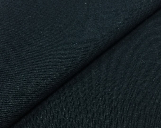 100% Cotton Jersey Knit Fabric (Wholesale Price Available By The Bolt) USA Made Premium Quality - 2418 Black - 1 Yard