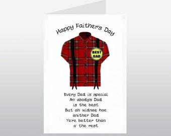 Fathers Day Braces Card