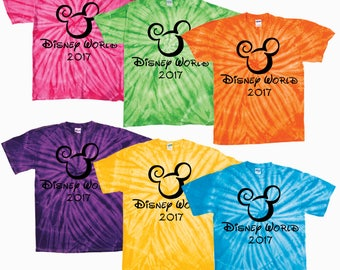 Walt Disney World Family Vacation tie dye shirt tee shirt vacation disneyworld magic kingdom epcot mgm studios pandora world of avatar 2018