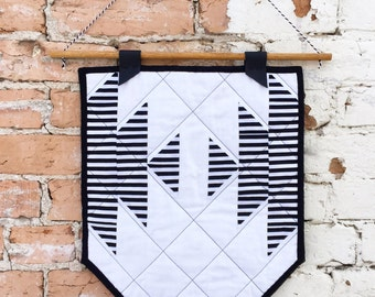 Striped Half Squash Wall Hanging | Quilted Wall Hanging | Quilted Banner