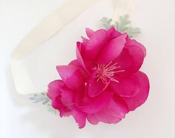 Newborn Flower Crown, Photography Shoot, Newborn Photo prop, special occasion, babyshower gift