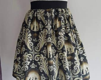 Adult Harry Potter Inspired Deathly Hallows Full Skater Skirt