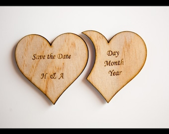 Save the Date Nested Heart Magnets