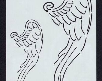 Angel Wing Stencil (Fantasy 002)