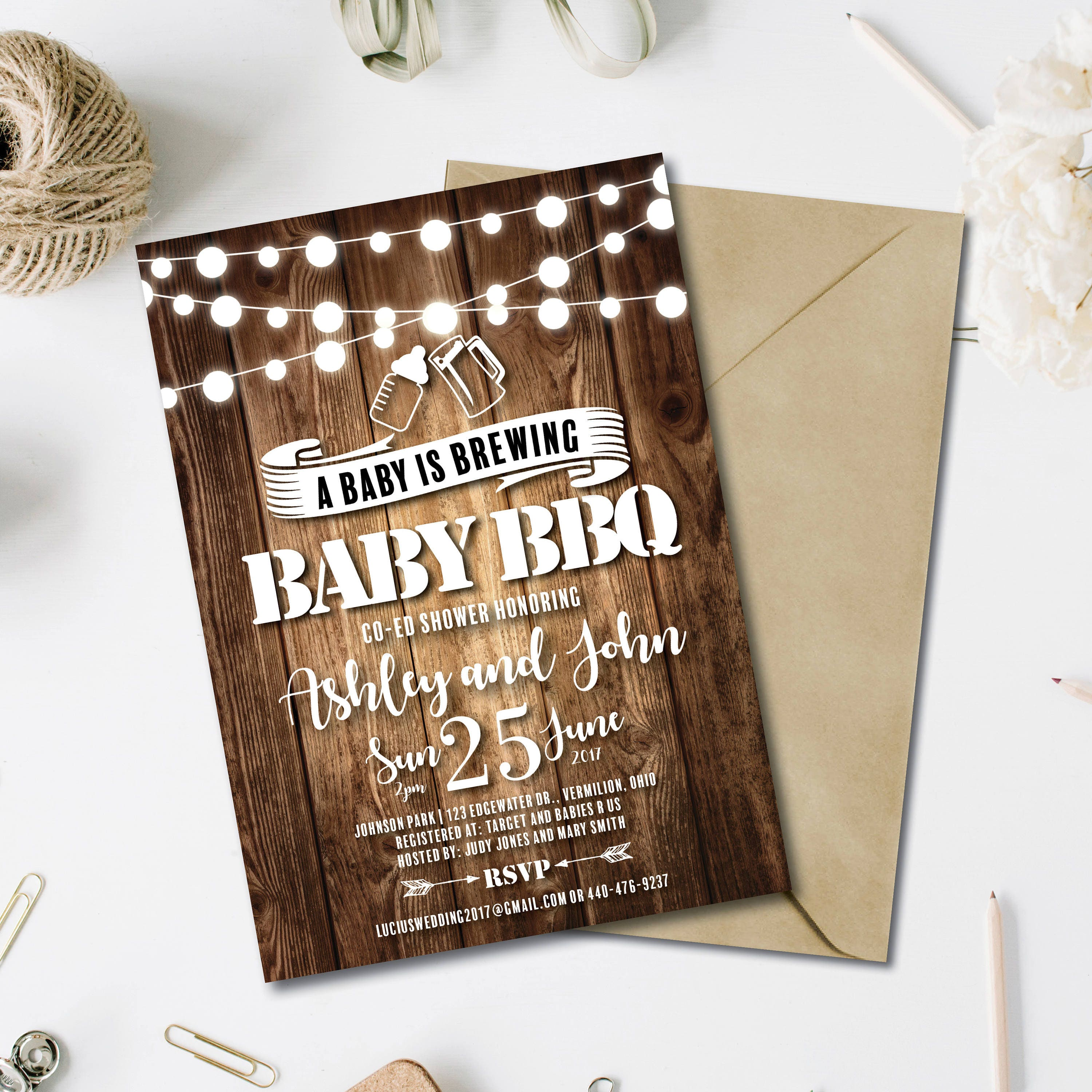Baby Is Brewing Baby Q Shower Invitations Baby Q Shower Il Fullxfull Baby  Is Brewing Baby Q Shower Invitations Babyq Shower Rustic Baby Shower  Couples Baby ...