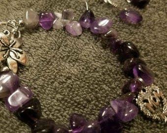 Amethyst MOM bracelet with earrings