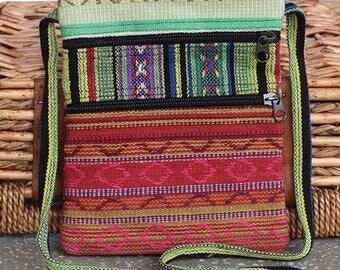 Boho Crossbody Festival Bag - Gheri Cotton - Handmade In Nepal