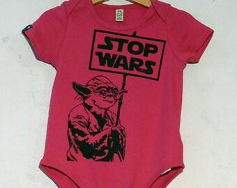 Stop Wars Organic Cotton Baby Bodysuits