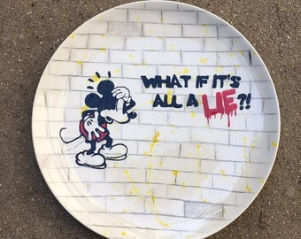 Banksy Style Mickey Charger
