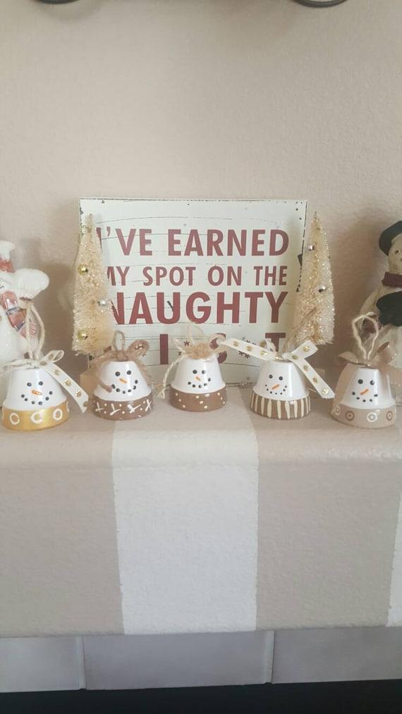 snowman clay pots snowman home decor home living christmas