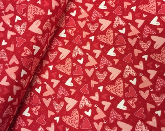 Valentine Fabric Kiss Kiss by Abi Hall for Moda 35254 Modern - CT 114571 100% High Quality Cotton by the