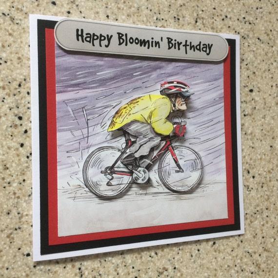 Célèbre Fait à la main vélo de carte découpage 3D joyeux anniversaire GL19