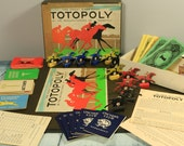 Vintage Waddington Totopoly horse racing game from the makers of Monopoly original horses intact