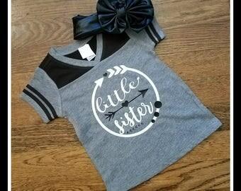 Little Sister Arrow Raglan Tshirt, Lil Sister Shirt, Little Sister Shirt, Lil Sis Aztec Hipster, Lil Sis Arrow Tshirt, Lil Sis Bodysuit