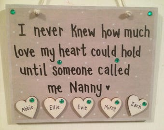 Personalised Nanny plaque