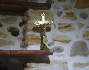Brass French Crucifix