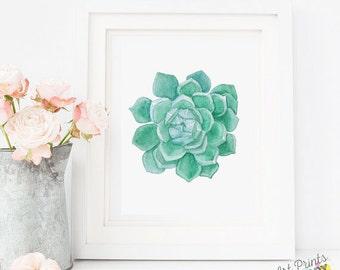 Succulent Print, SALE Cactus Wall Art Print, Cactus Art, Cactus Art, Watercolor Succulent, Botanical Print, Succulent Wall Art Print, Cacti