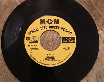The Frontiers 45rpm Special Disc Jockey Record