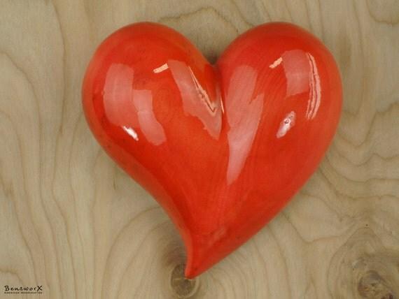 "Say I love you ""Beautifully Whimsical"" Heart | Light Rust Basswood Wood Art | Bentworx™"