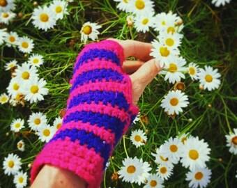Stripy Handwarmer Crochet Pattern