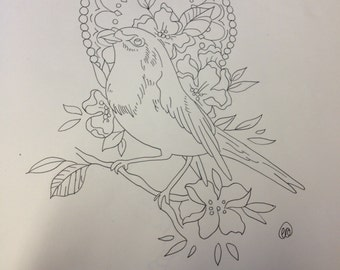 Robin tattoo design