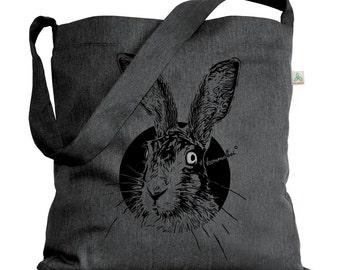 Upcycling shoulder bag master light Heather grey