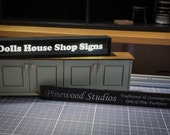Dolls House Shop Signs