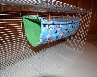 Snowman Tube w/ Green Backing, Rat/Ferret Hammock