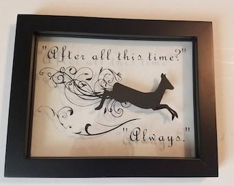 "Harry Potter Frames Art - ""Always"""