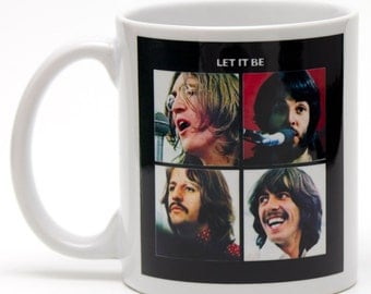 The Beatles Let It Be 11oz ceramic mug.