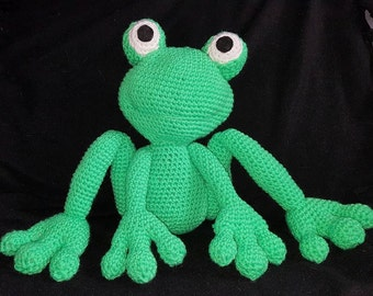 Crotchet Amigurumi Frog Stuffed Toy