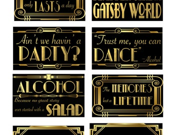 Great Gatsby/Roaring 20's Photo Booth Props-Set B