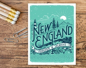 New England Forever • set of 8 cards
