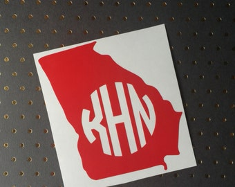 Monogram State Decal, Any State Decal, State Monogram, Yeti Monogram, State Tumbler Decal, RTIC, Ozark, Custom Monogram