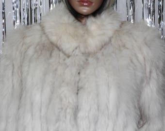 Real Fur|Vintage Niki Blue Fox Fur| Good Condition